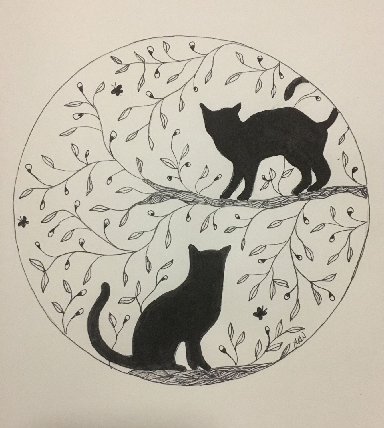 A personal favourite from my Etsy shop https://www.etsy.com/au/listing/266327672/cats-feline-wall-art-print-of-original