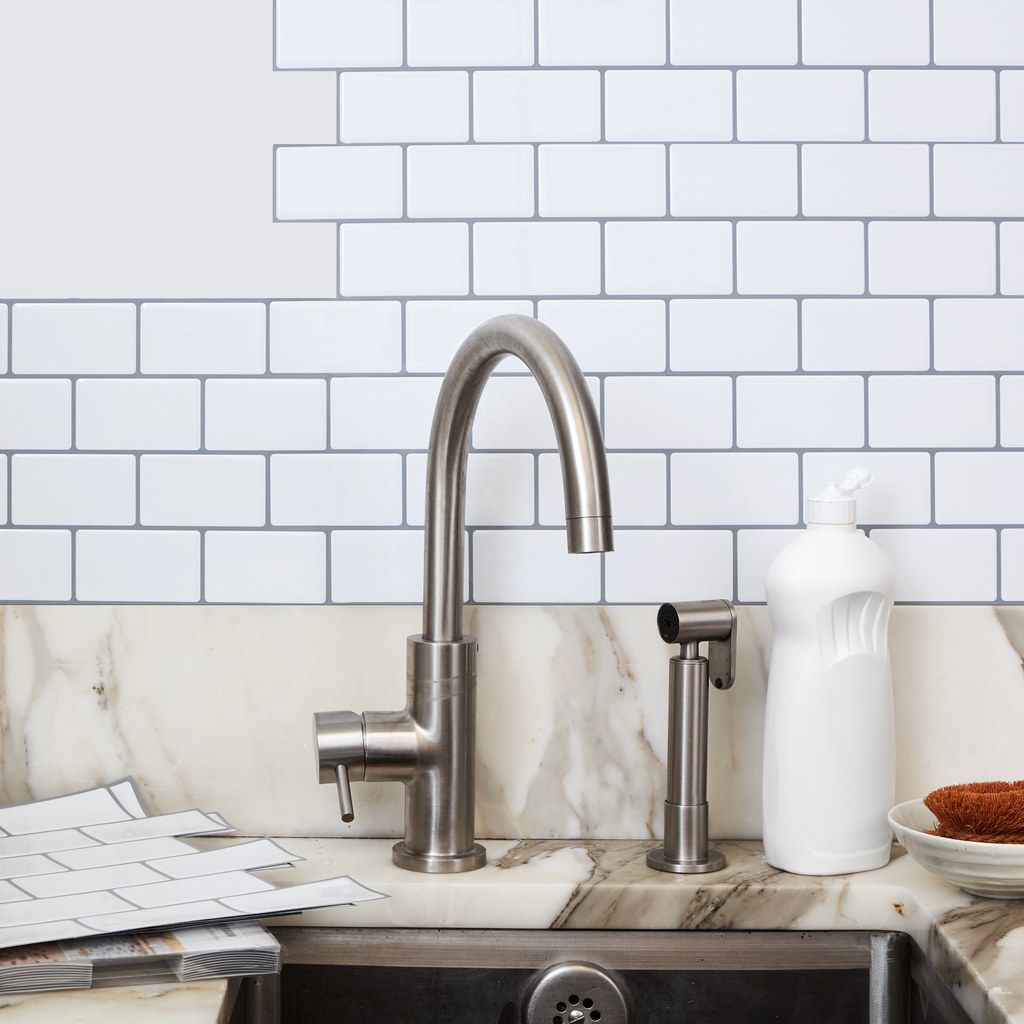 Transform Your Kitchen For 30 With These Stick On Subway Tiles