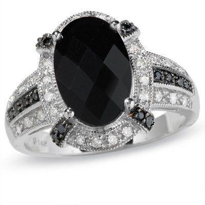 Paris Jewelry 14k White Gold 2 Carat Genuine Onyx with Black and White Diamond Ring by Paris Jewelry, http://www.amazon.com/dp/B00787LIJK/ref=cm_sw_r_pi_dp_9qDLpb1Q6YZCM