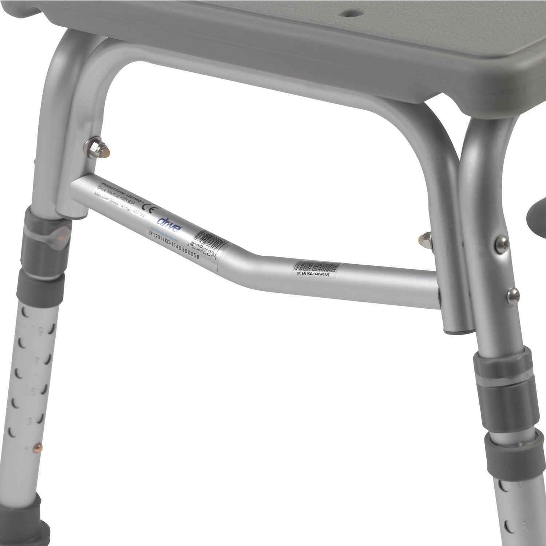 Drive Medical Plastic Transfer Bench with Adjustable Backrest ...