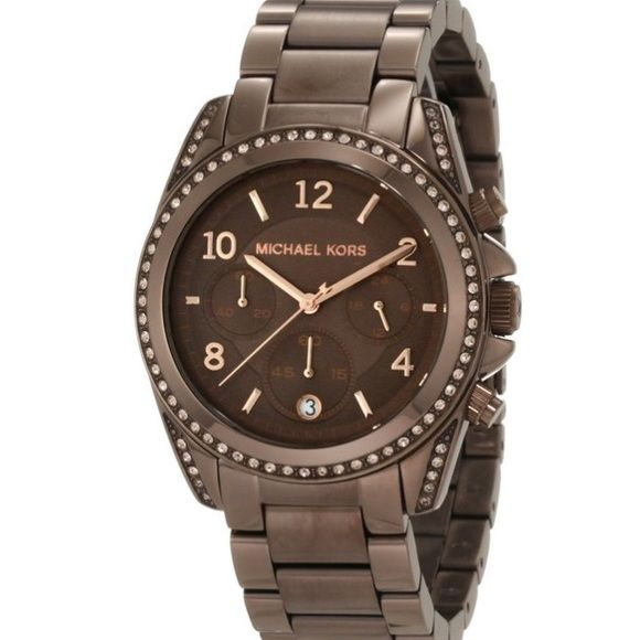 Michael Kors Watch  Blair Bronze MK5493. Authentic. No scratches.never worn. Extra links included. Beautiful watch I just don't wear it bc I have another brown MK watch I like more. So it's time to let this go. Michael Kors Accessories Watches