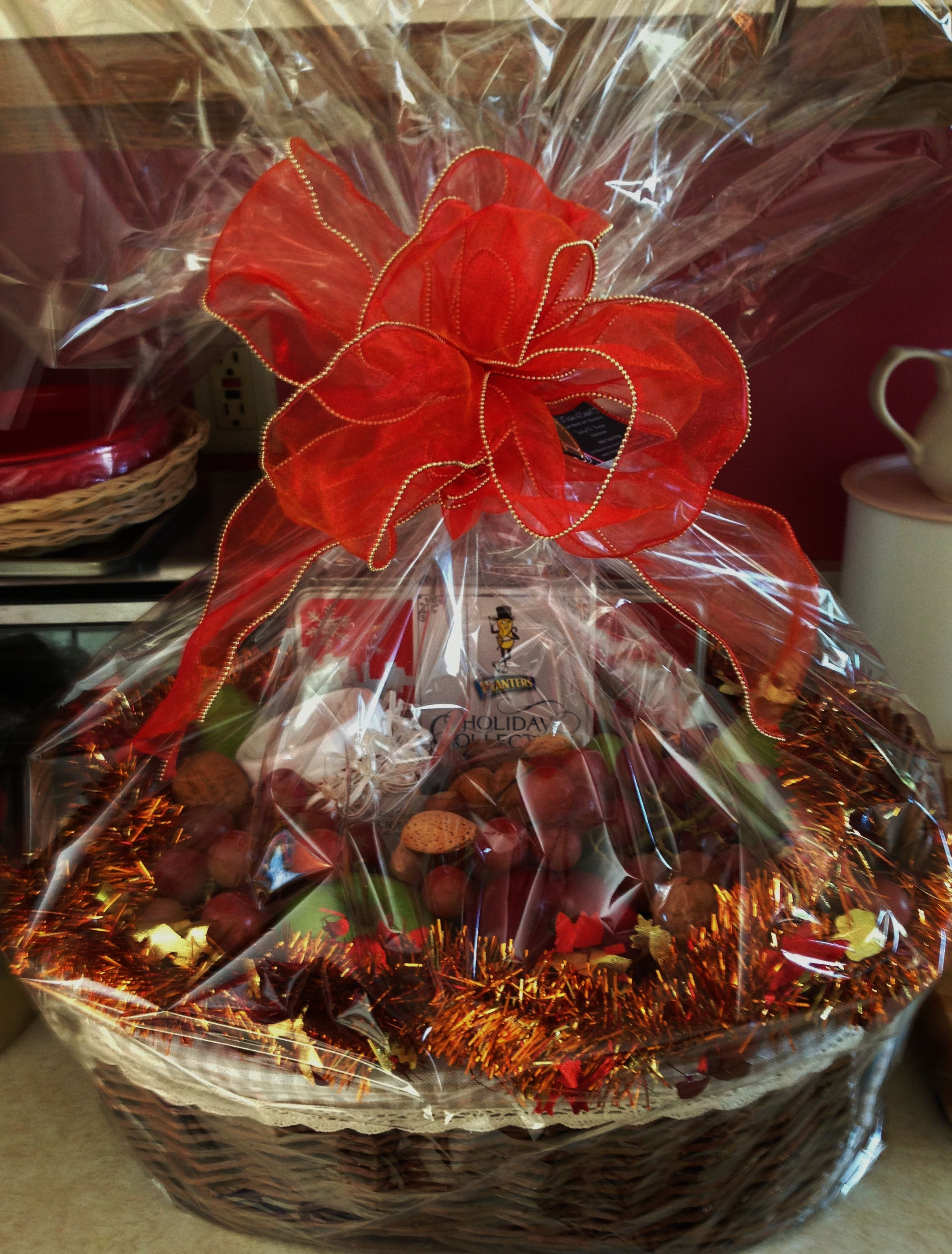 Fruit and Nut Basket What a healthy basket for the holidays or for any occasion. This basket includes: 2 Grapefruits, 2 Navel Oranges, 4 Red Delicious ...