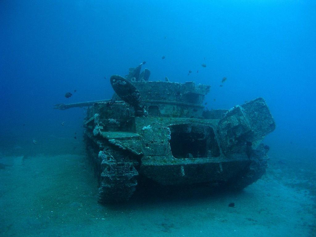 Dive a mysterious sunken combat vehicle at the bottom of for Aqaba dive