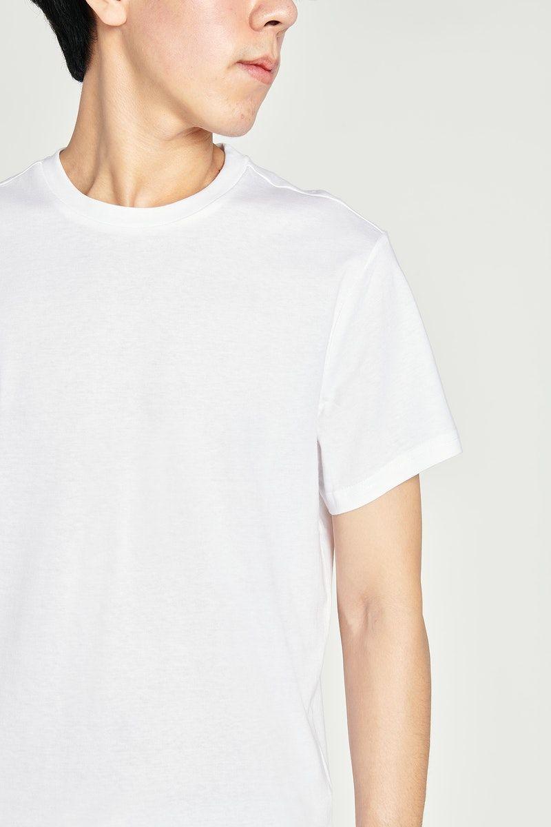 Download Download Premium Image Of Asian Man In A White T Shirt Mockup 2465646 Clothing Mockup Shirt Mockup Tshirt Mockup