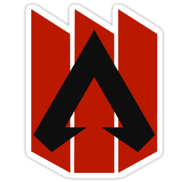 Apex Legends Three Bar Logo Apex Legends Symbol Sticker By Surik Legend Symbol Bar Logo Logo Sticker