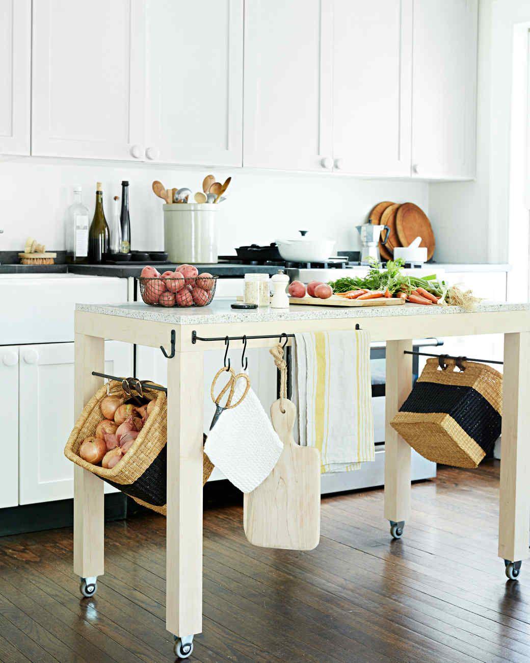 Floating Island Storage Apartment Kitchen Organization Studio