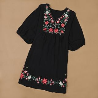 Charming Boho Embroidery Mexican Pessant Hippie Dress For Women