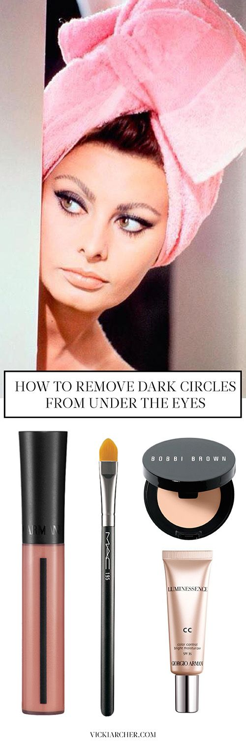 how to remove dark circles from under your eyes - vicki archer http://vickiarcher.com/2015/05/question-how-to-remove-dark-circles-under-the-eyes/