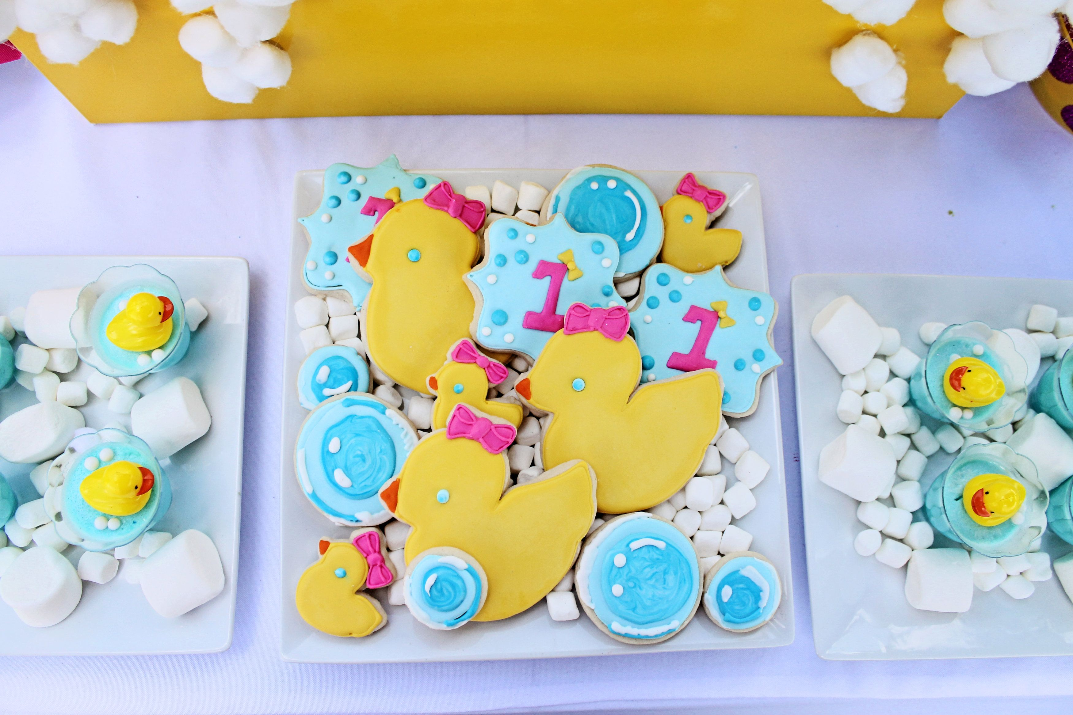 Rubber Duck Party Sugar Cookies Bubble Cookies Duck