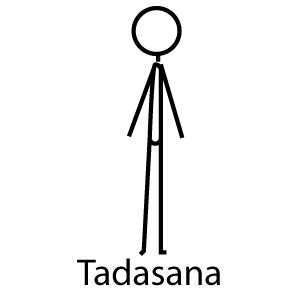 tadasana  mountain pose  yoga stick figures iyengar yoga
