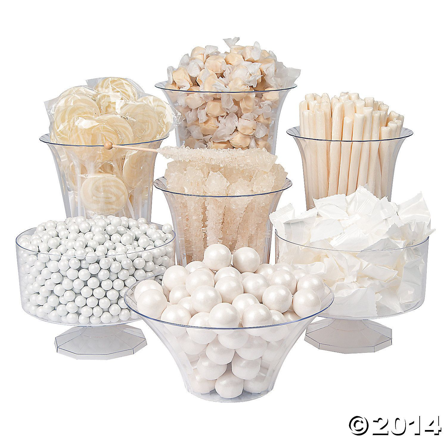 White Candy Buffet Assortment 1706pc Party Supplies Canada - Open A ...