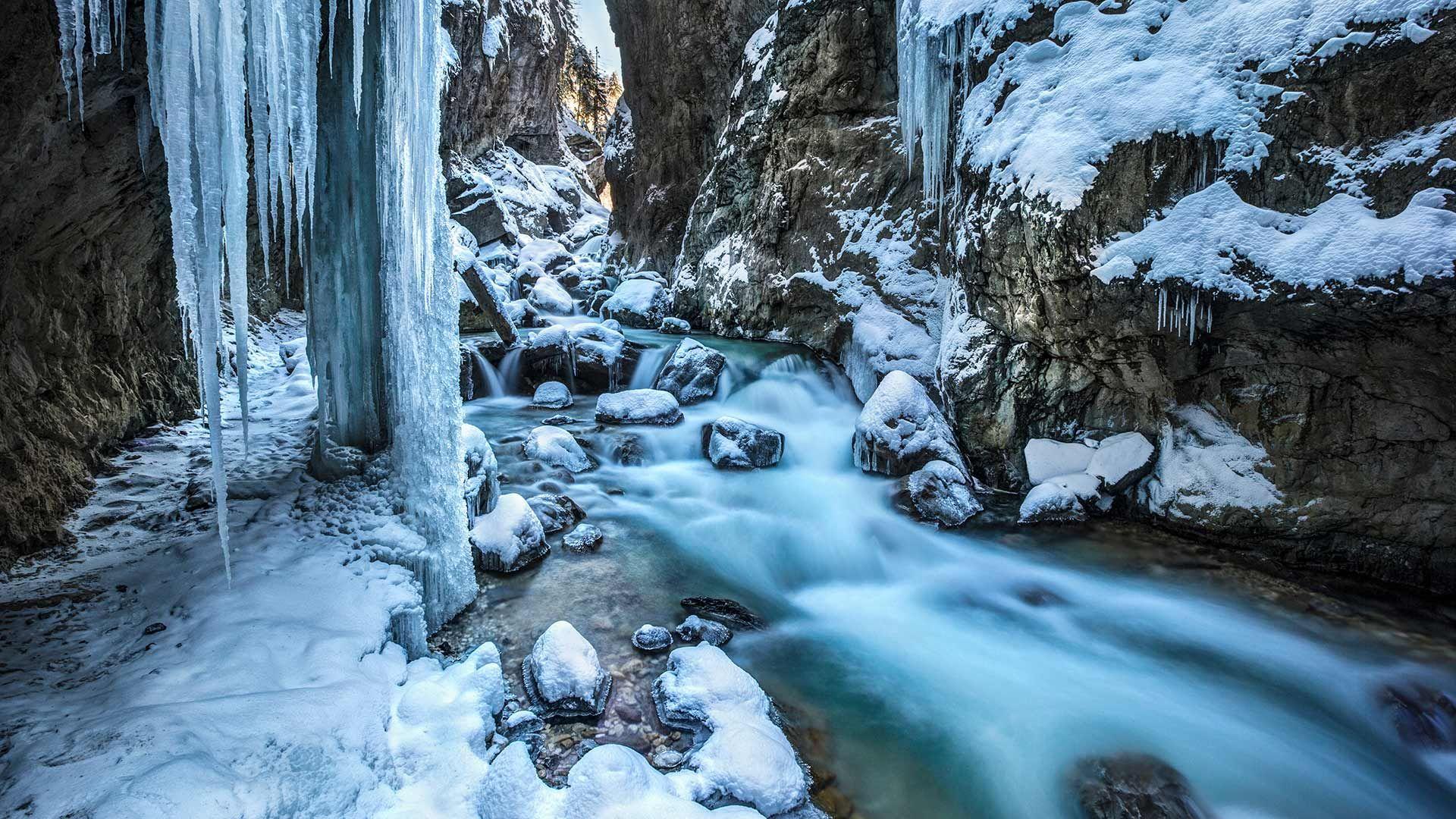 Partnachklamm im Winter, GarmischPartenkirchen, Bayern