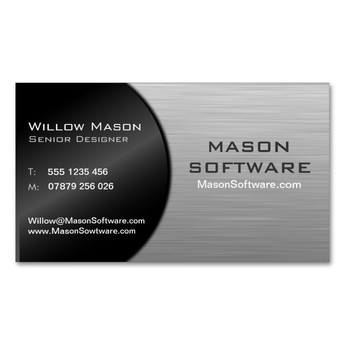 Cool Black and Steel Folded Technology - Bus Card Business cards - bus pass template