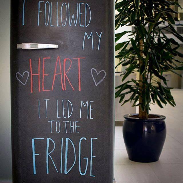 Einfach Einkaufsliste oder Grüße an die Familie auf den Kühlschrank ...