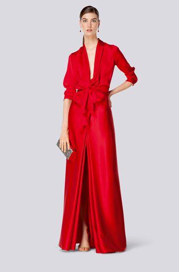 Vestido Rojo Carolina Herrera In 2019 Fashion Carolina