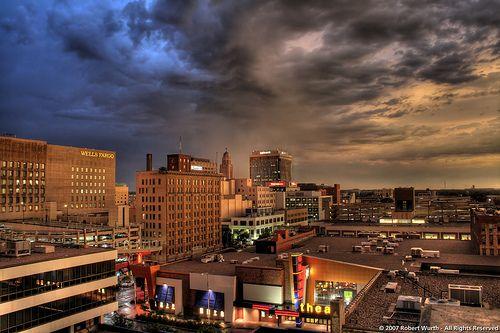 look at that sky above University of Nebraska