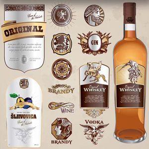 alcohols labels 4 single paper decoupage napkins Wine oak barrel -722