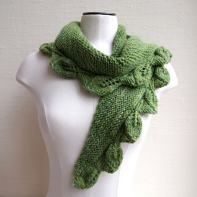 Ravelry Leafy Bias Pattern By Susan Ashcroft Using Noro Silk