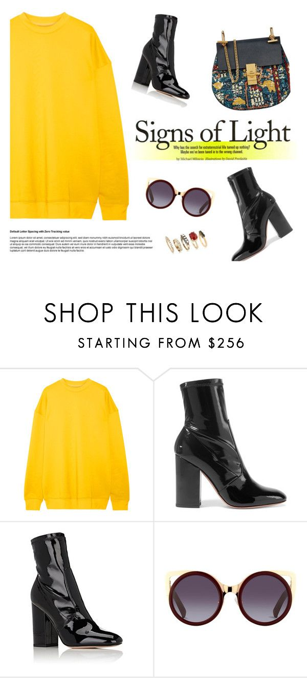 """""""Sign of Lights"""" by euphemiasun97 ❤ liked on Polyvore featuring Marques'Almeida, Valentino and Iosselliani"""