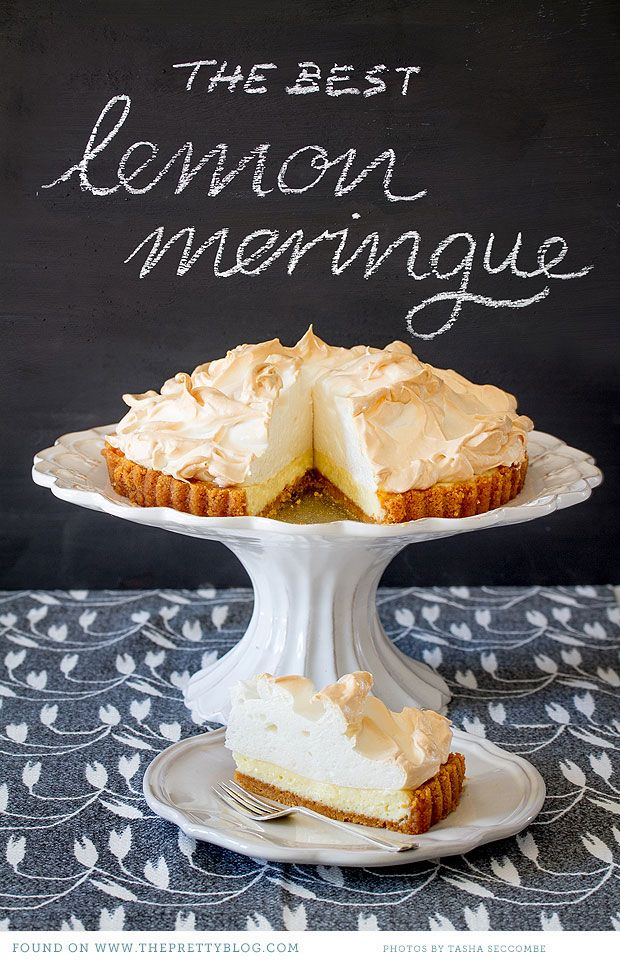 An all time South African favourite. To die for! Find recipe at http://www.theprettyblog.com/2012/06/the-classic-lemon-meringue-pie-recipe/#