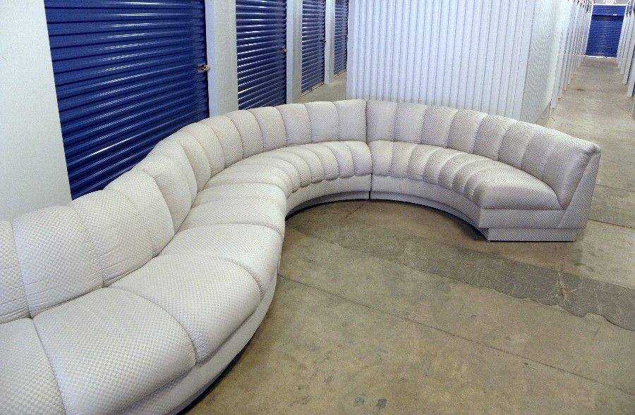 mid century modern 17u0027 serpentine curved sectional sofa couch kagan desede style