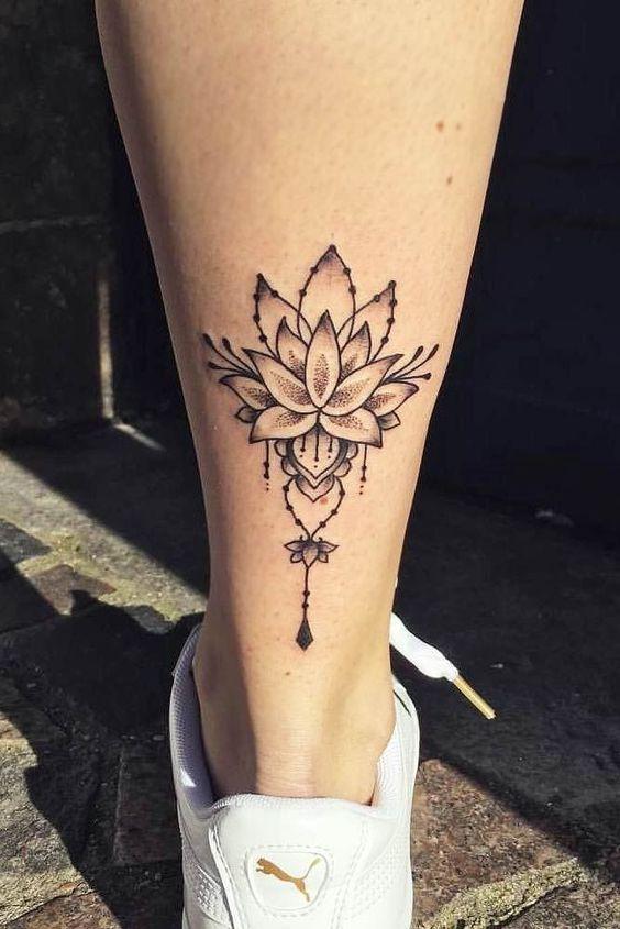 22 Best Calf Tattoo Ideas For Women 22 Best Calf Tattoo Ideas For Women Calf Compasstattoo In 2020 Lotus Flower Tattoo Design Leg Tattoos Lotus Flower Tattoo