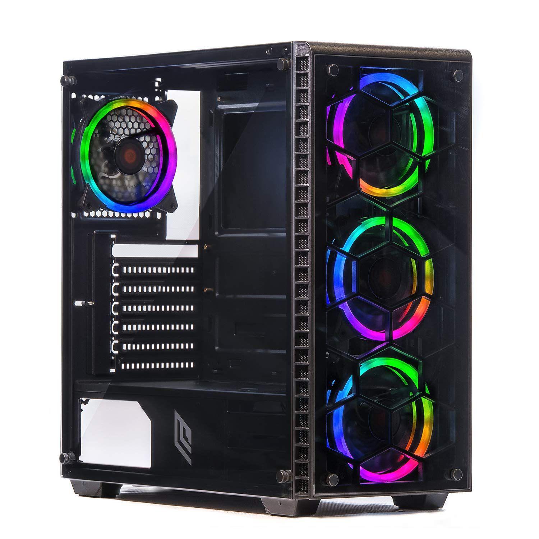 Noua Utopia F5 Black Case Atx Per Pc Gaming 0 65mm Spcc 4 Ventole