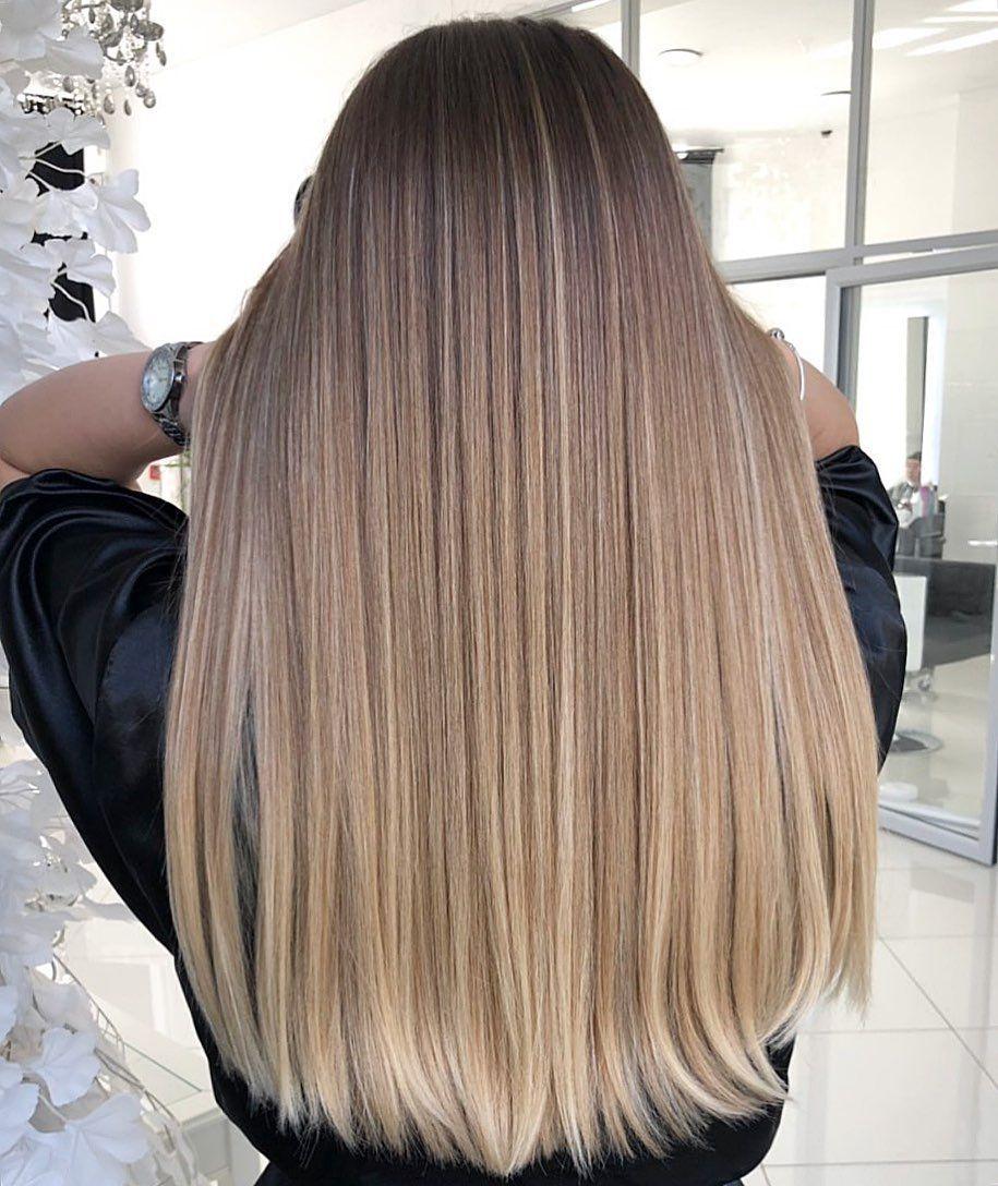Ombre blonde Haarfarben für alle Haartypen im 2020 #ombre #blonde #haarfarben #…