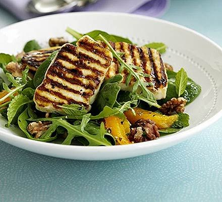 Halloumi salad with orange mint recipe halloumi salad mint halloumi is blessing for vegetarians who like to grill recipe halloumi salad with forumfinder Images