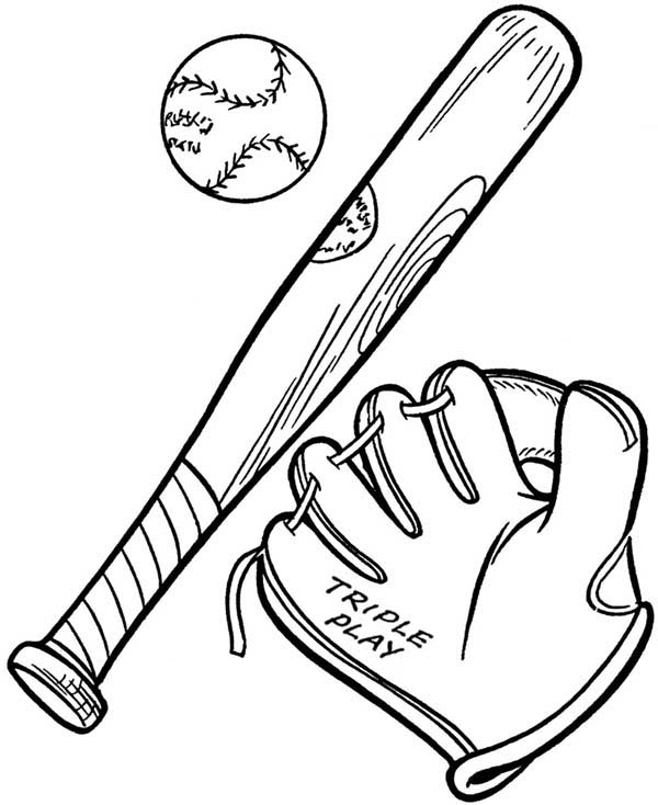 Baseball Glove A Ball And A Bat Coloring Page Download Print Online Coloring Pages For Fr Bat Coloring Pages Baseball Coloring Pages Online Coloring Pages