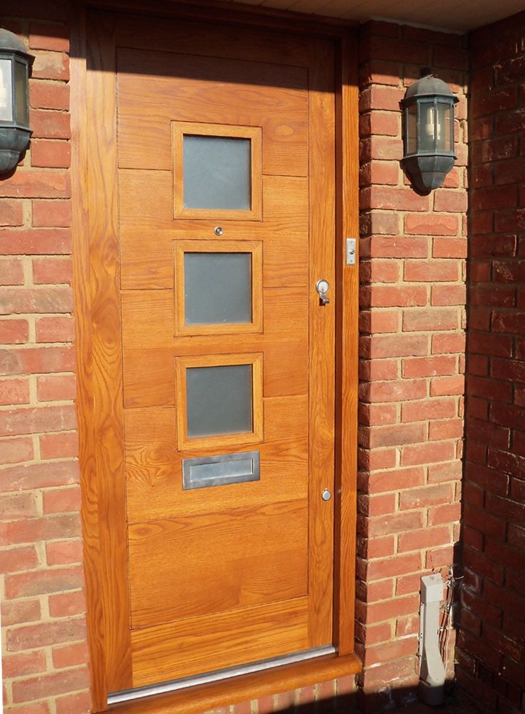 A Contemporary Style 3 Light Door Fitted In Finchley In North London 328 2 & A Contemporary Style 3 Light Door Fitted In Finchley In North ... pezcame.com