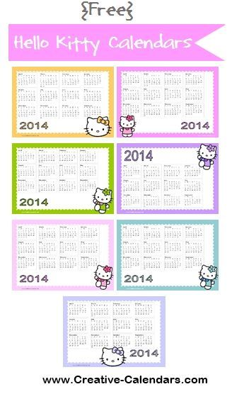Free Printable Hello Kitty Calendars Monthly And Annual 2013 2014