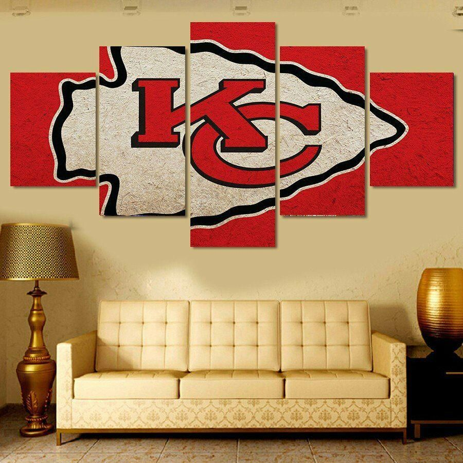 Kansas City Chiefs Nfl Football Panel Canvas Wall Art Home Decor ...