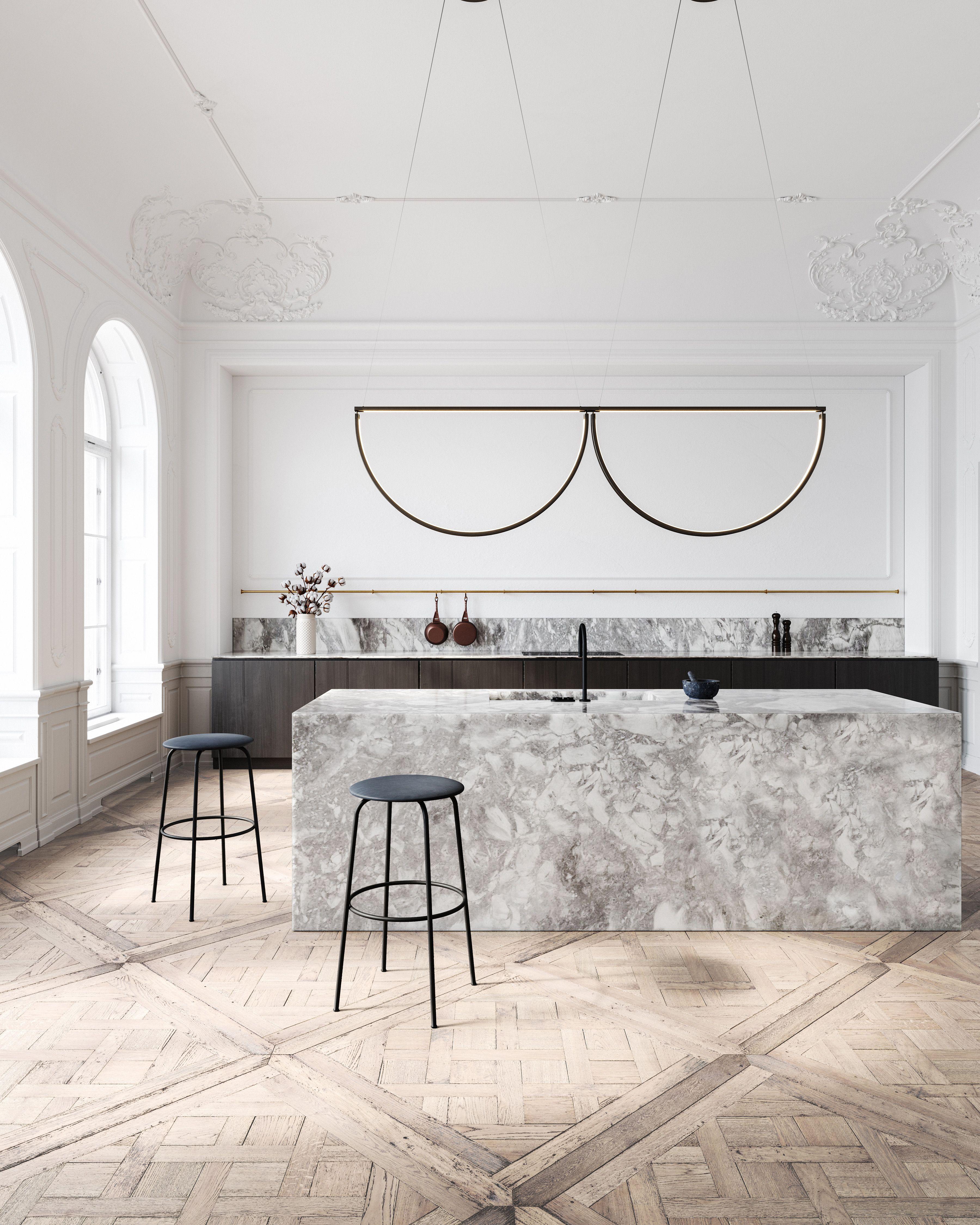 Chord Convoy Pendant and Kitchen design by AlexAllen Studio