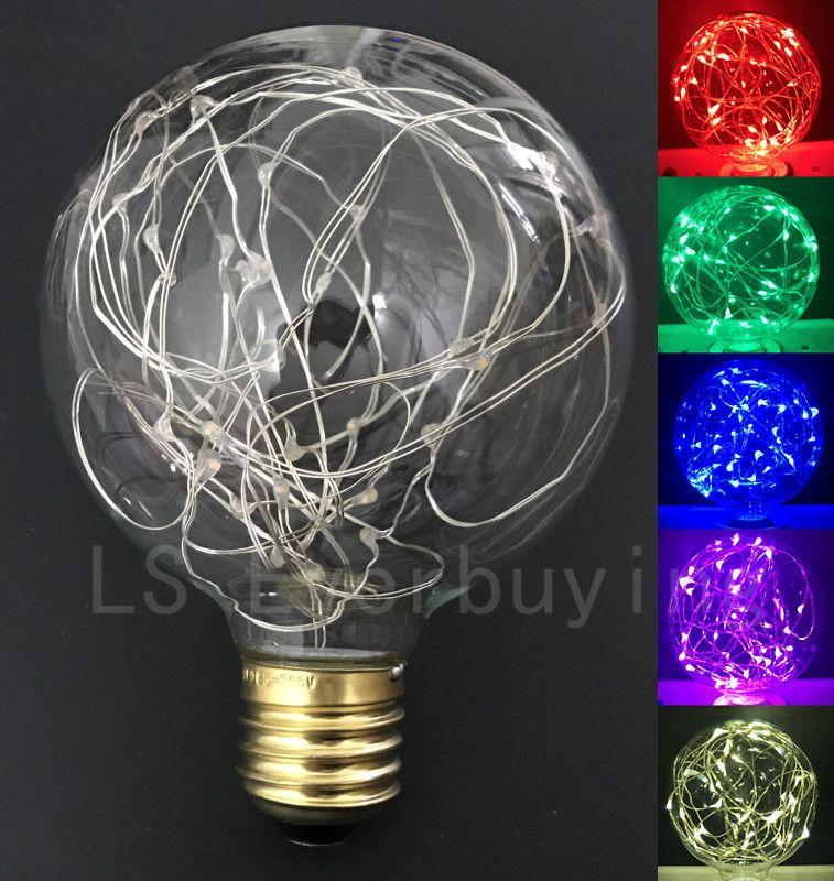 Led lamp Vintage Design Fairy E27 led bulb 85V-265V G95 Copper wrie