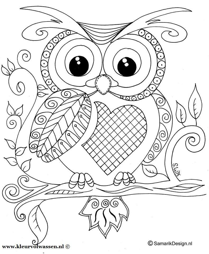 Photo By Kleurplatenvoorvolwassenen Owl Coloring Pages Coloring Books Mandala Coloring Pages