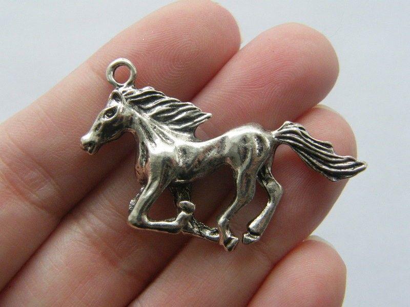 10 Fairy charms antique silver tone FB14