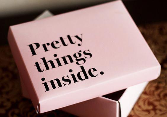 Coisas bonitas dentro #prettypackaging