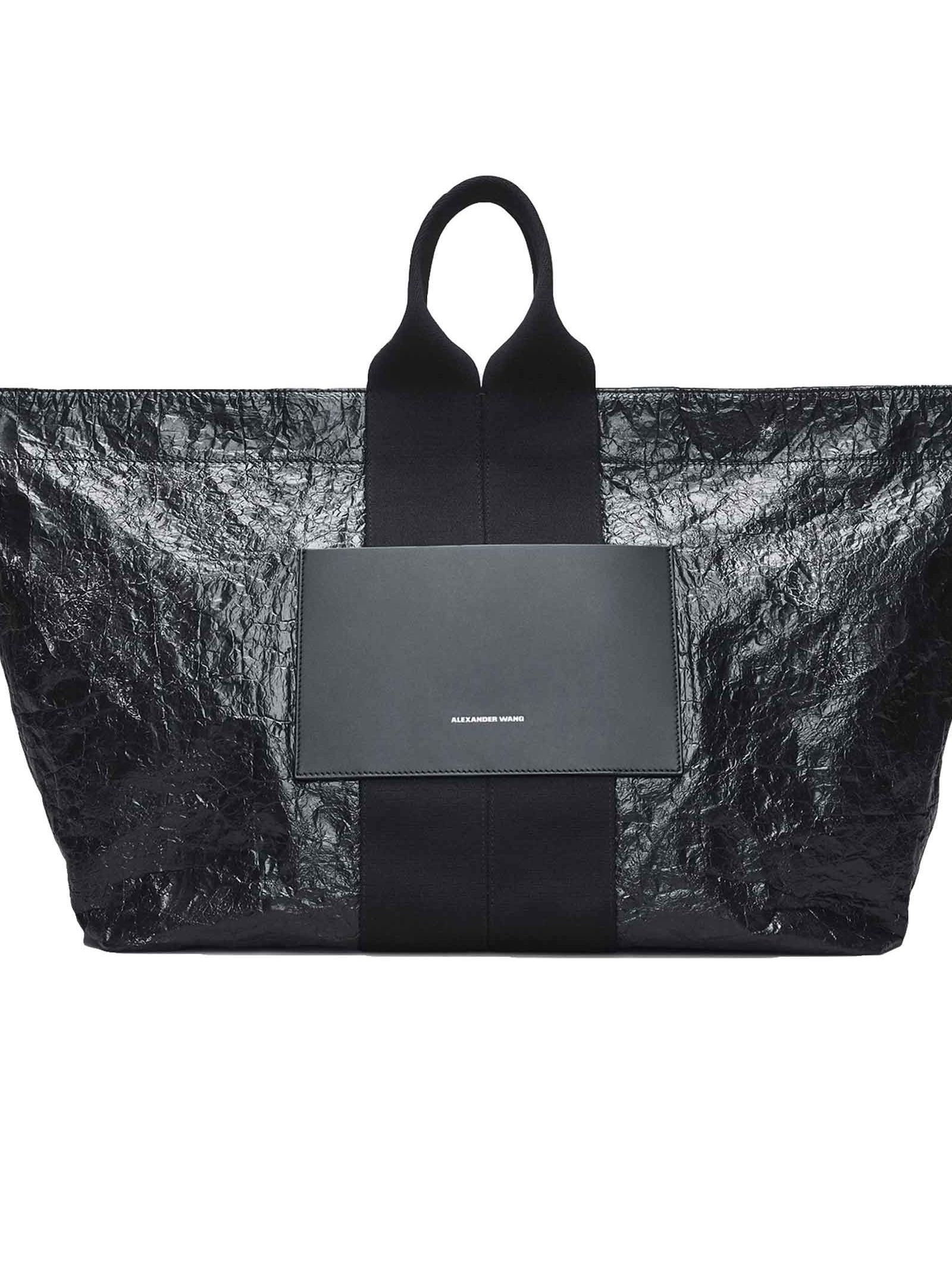 9f7d0301b5f6 ALEXANDER WANG AW LOGO TOTE. #alexanderwang #bags #leather #hand bags  #polyester #tote #