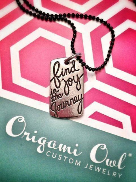 Find joy in the journey Order online at www.butterfly.OrigamiOwl.com $12 #journey #tag #motivation #joy