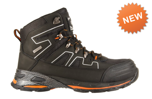 0328927bc49 Chinook Panther Composite Toe Black & Orange Waterproof Work Boots ...