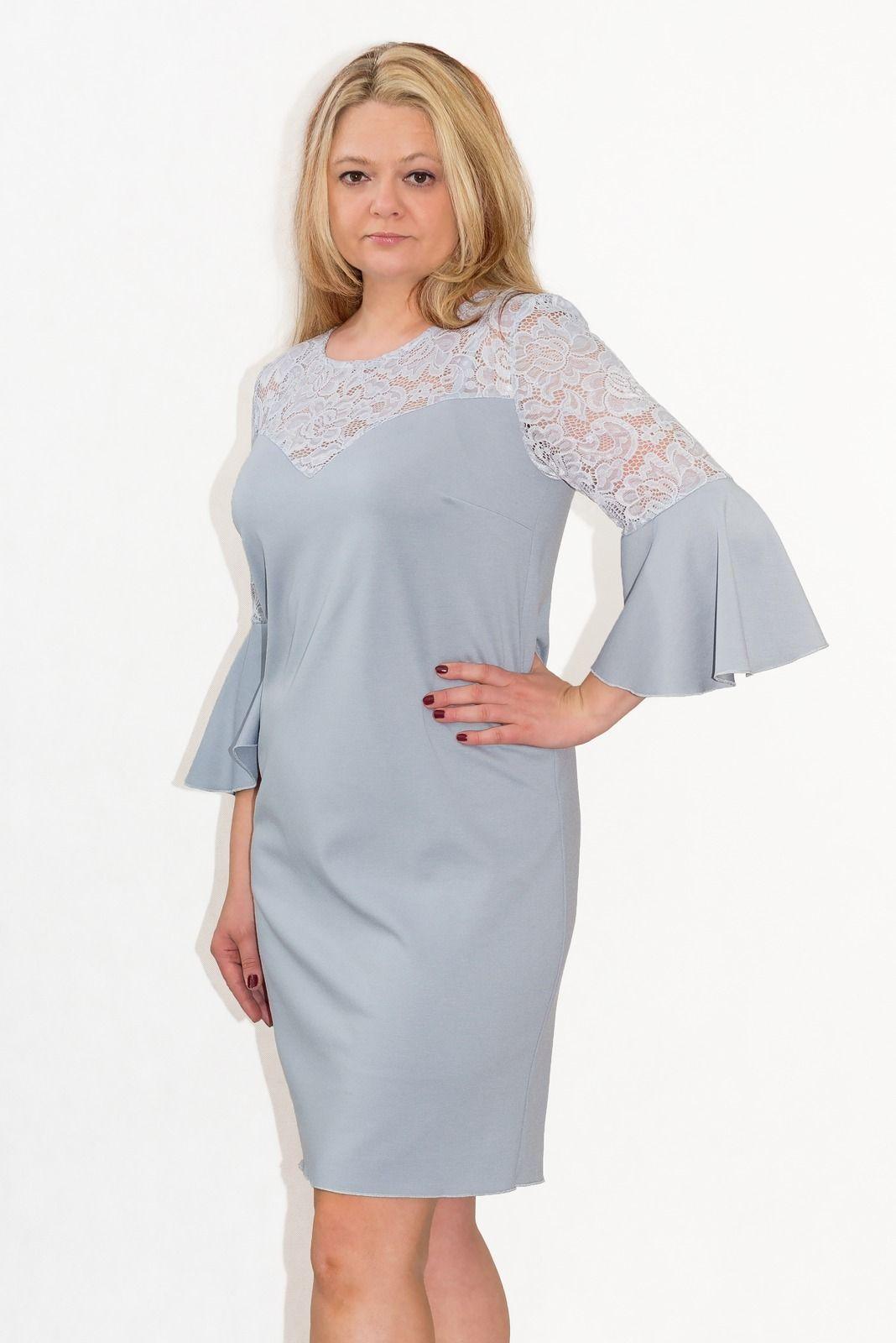 5b3a46b4d9 Elegancka sukienka XXL 40-60 na wesele PAOLA duże rozmiary - XELKA ...