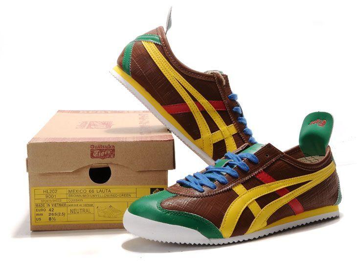buy popular 230dd 0a316 ... Onitsuka Tiger Mexico 66 Lauta Brown Yellow Green ...