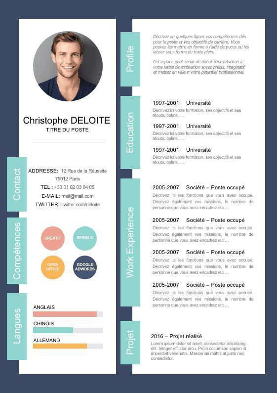Modern Resume Template Cv Template Professional And Creative Resume Word Resume Instant Download Docx Cv Moderne Modele De Cv Moderne Modele Cv