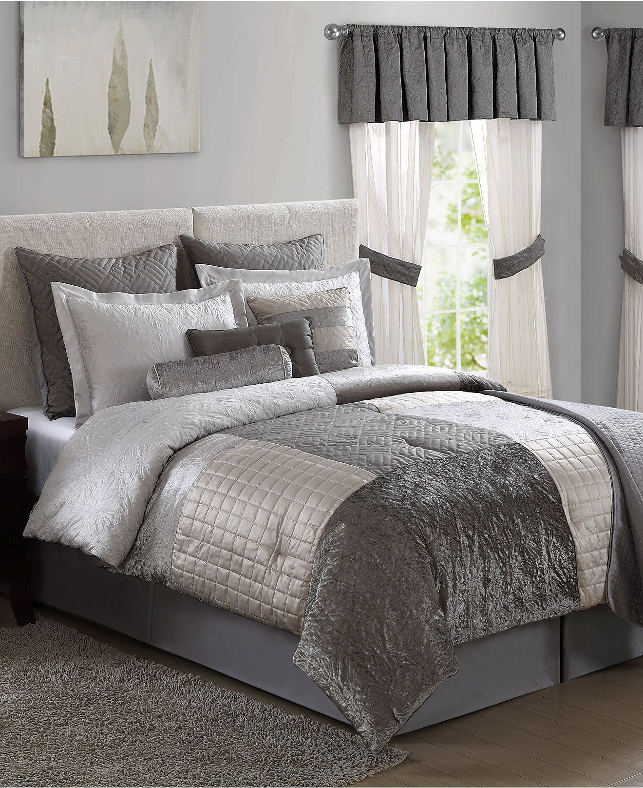 granite 22-piece comforter set - bed in a bag - bed & bath