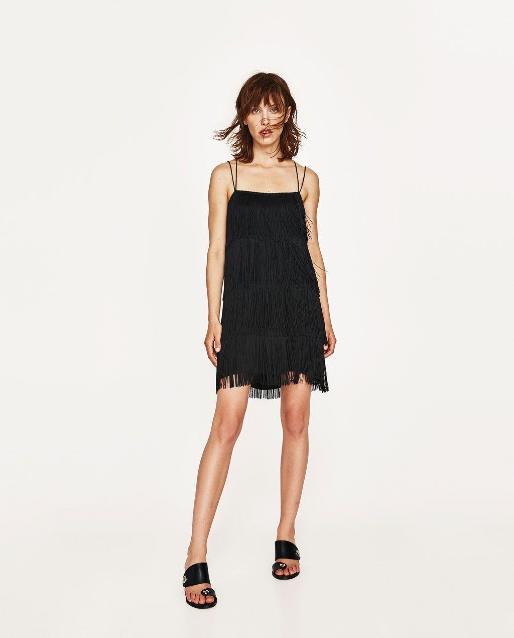 978047af VESTIDO SATÉN FLECOS | Style | Zara dresses, Satin dresses, Dresses
