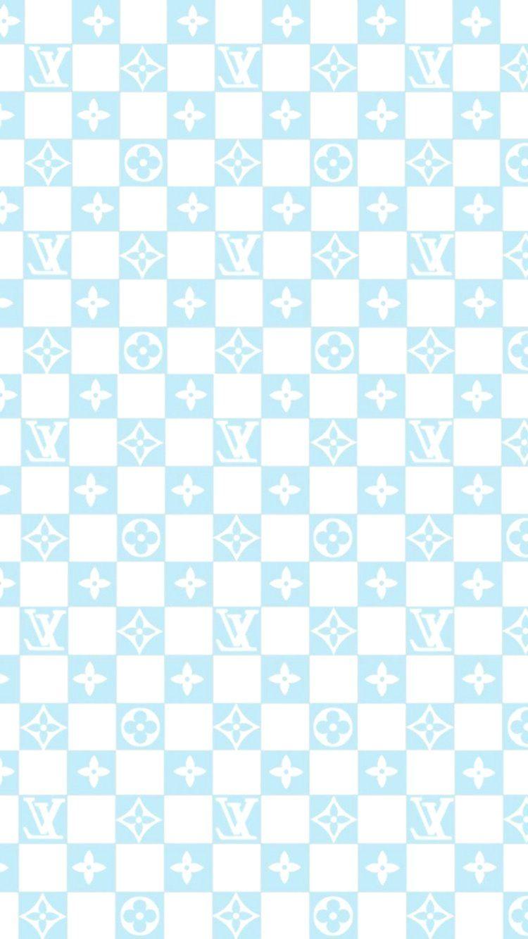 Louis Vuitton Baby Blue Checkered Vans Wallpaper In 2020 Louis Vuitton Iphone Wallpaper Baby Blue Aesthetic