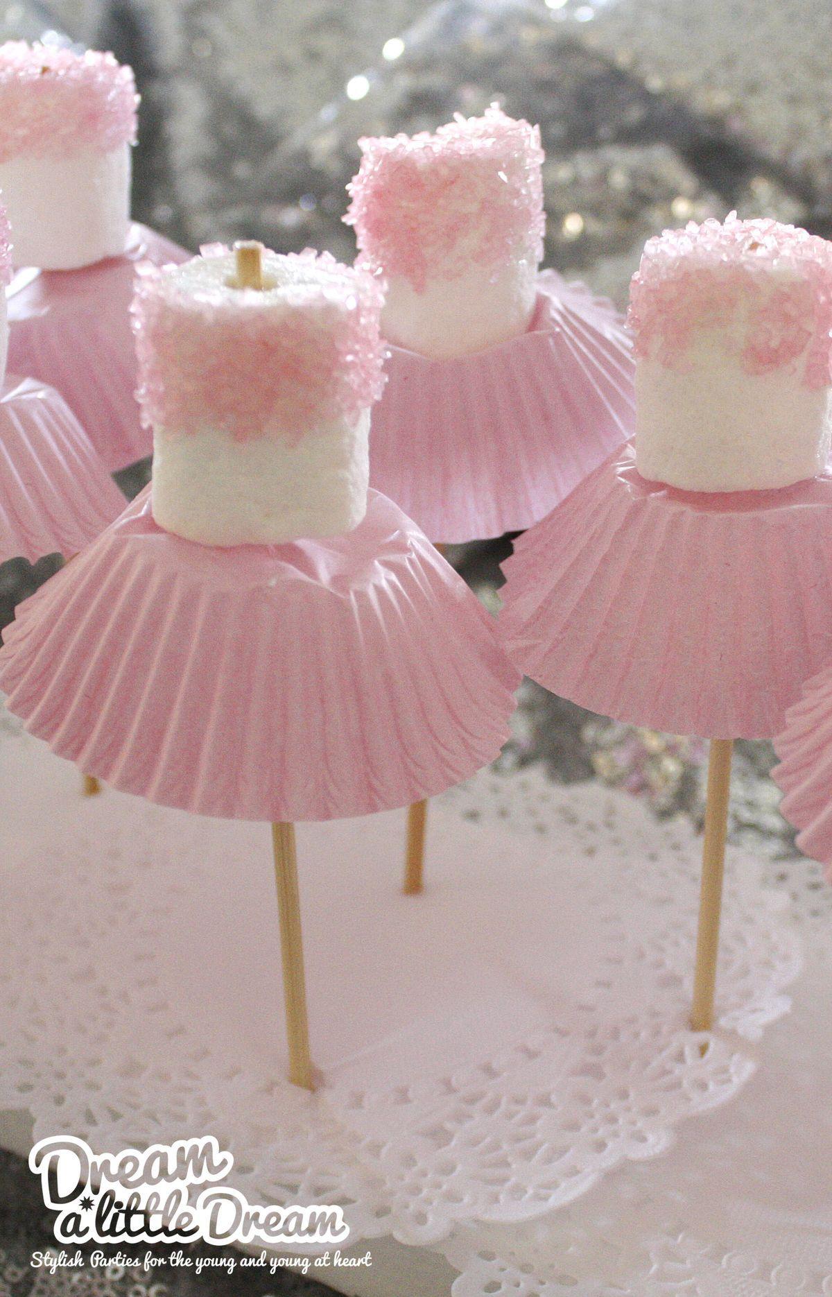 Ballet marshmallow treats with cupcake liner tutus mesa chuches