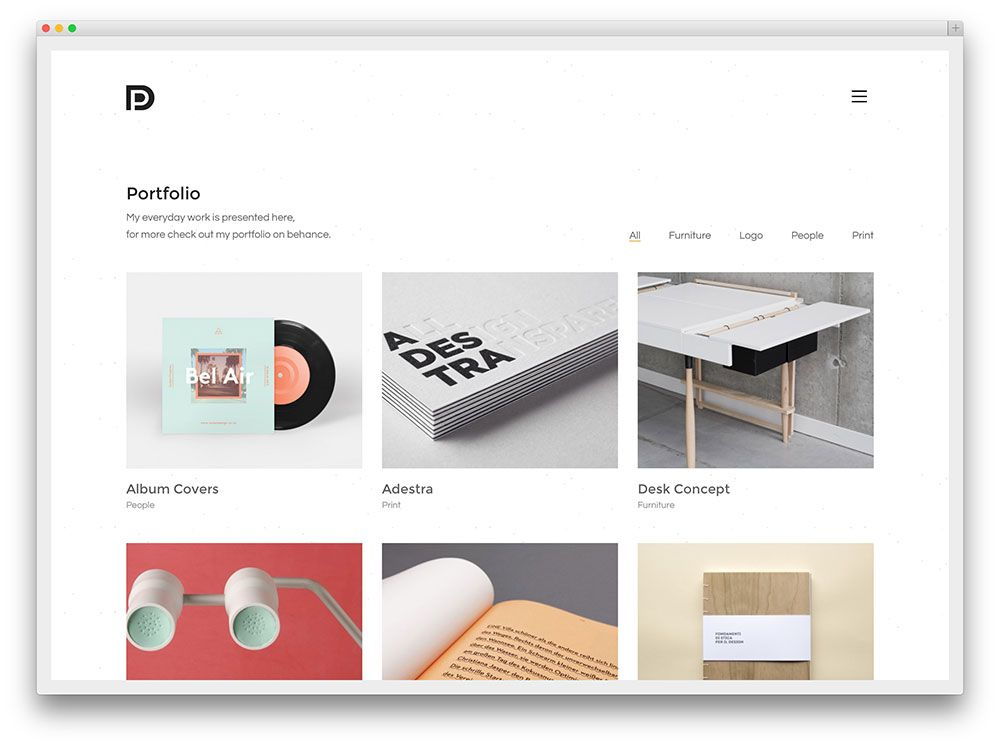 kalium minimal portfolio template andy pinterest template website layout and ui ux. Black Bedroom Furniture Sets. Home Design Ideas