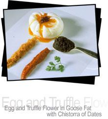 The best egg I ever ate: egg and truffle flower in goose fat made by Juan Marie Arzak.